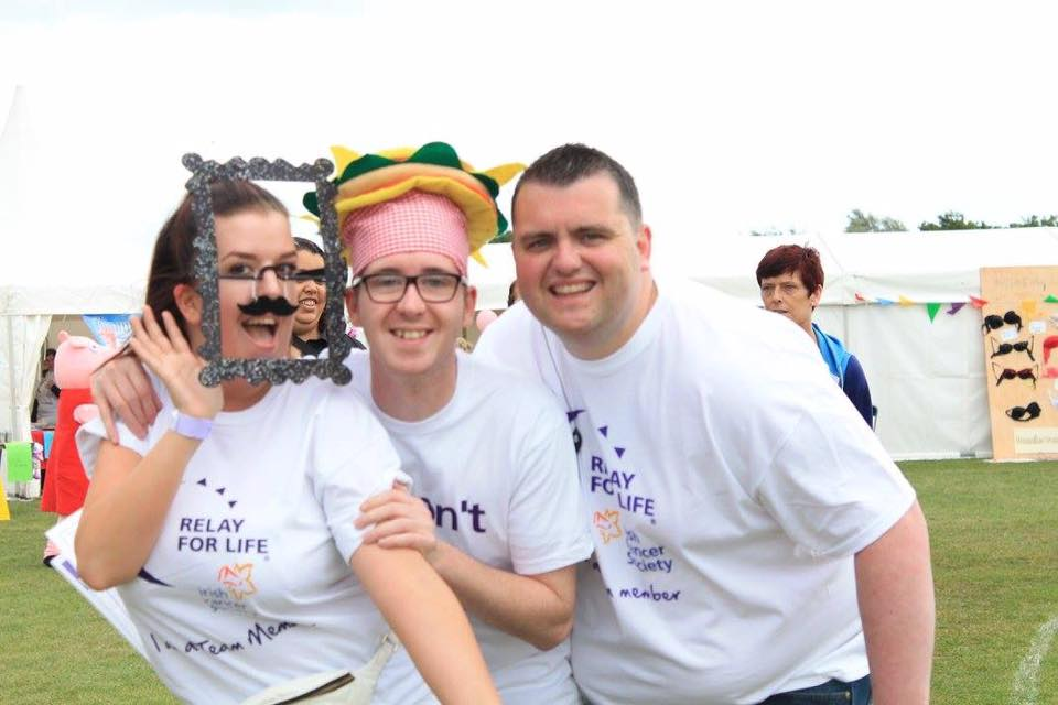 Team of people laughing at Relay For Life Ballyfermot