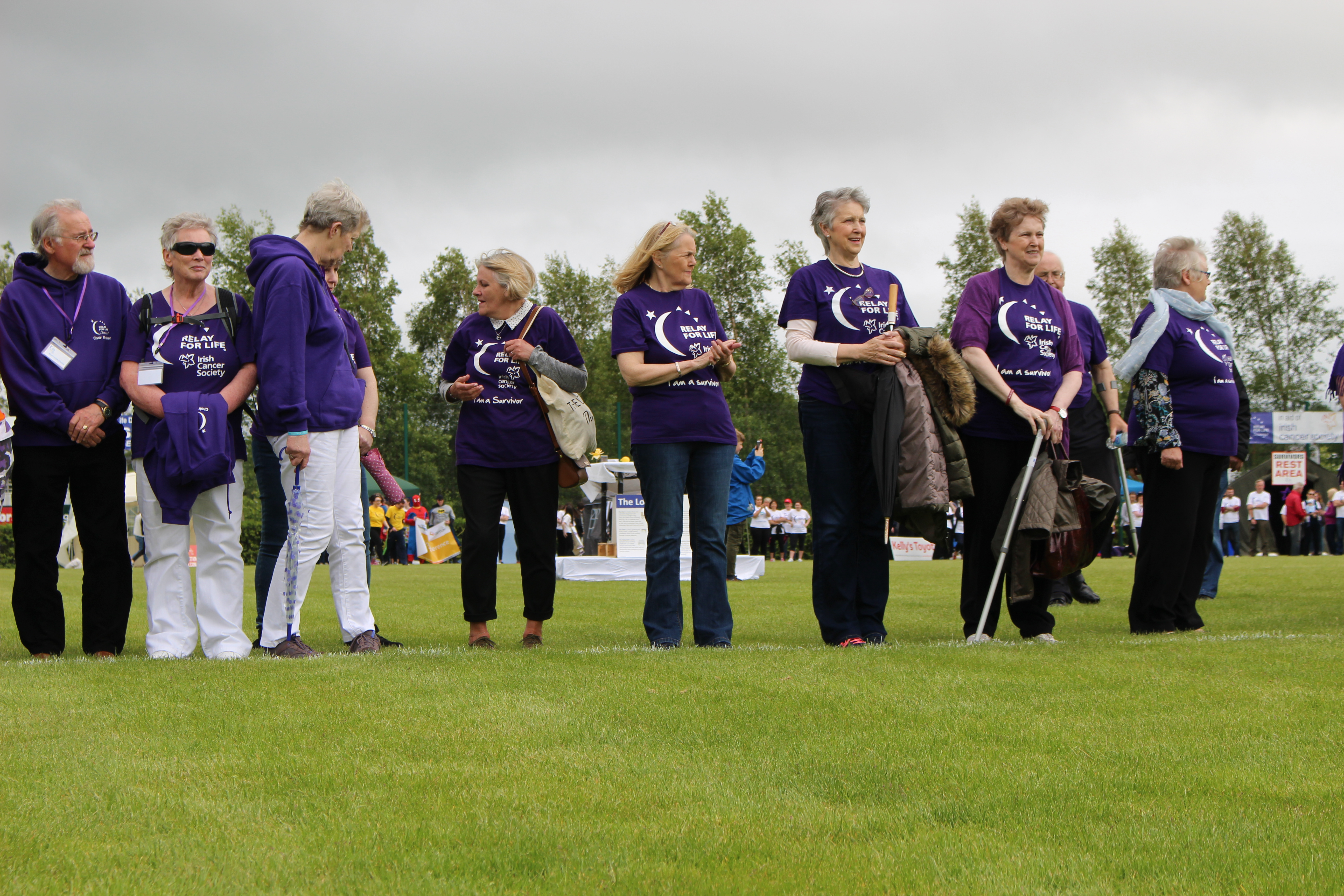 Cancer survivors at Relay For Life Donegal