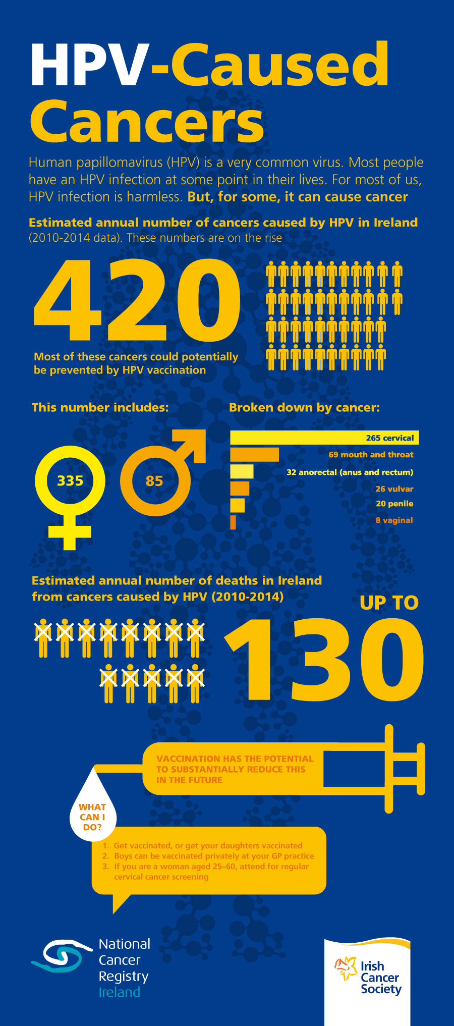 HPV-Caused Cancers Infographic