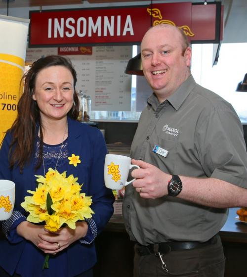 Daffodil Day volunteers at Insomnia