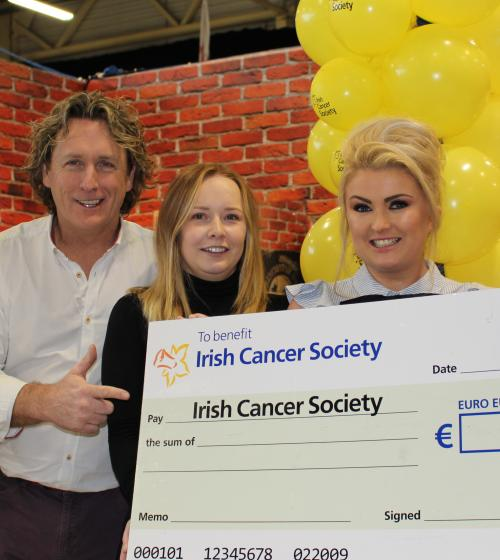 Grafton Barber employees fundraising for the Irish Cancer Society
