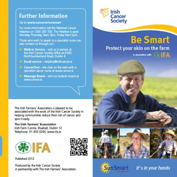 Be Smart - Protect your skin on the farm leaflet