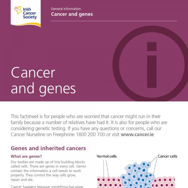 Cancer and genes factsheet