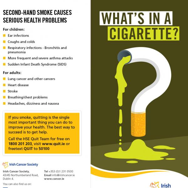 What's in a cigarette leaflet