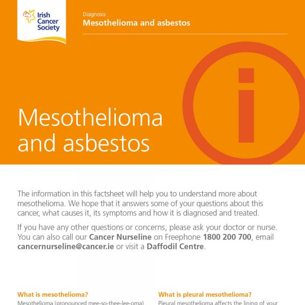 Mesothelioma and asbestos factsheet