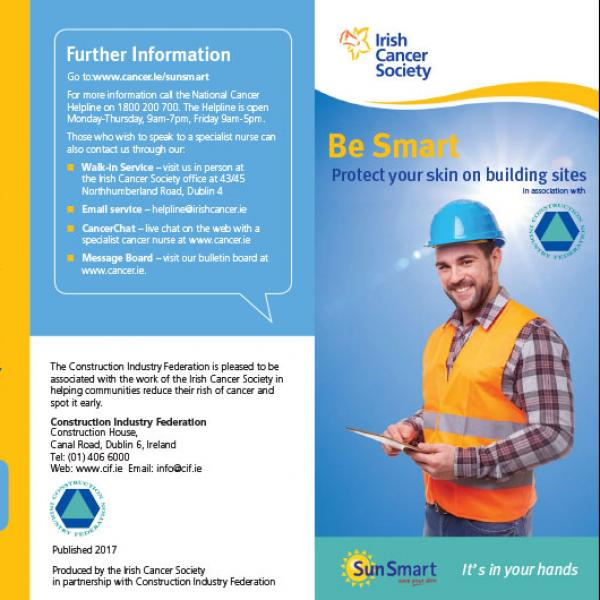 Be Smart - Protect your skin on outdoor building sites leaflet