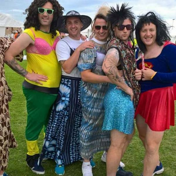 People dressed up at Relay For Life Wexford