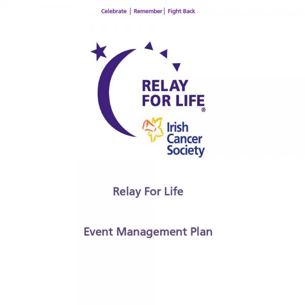 Relay For Life event management plan