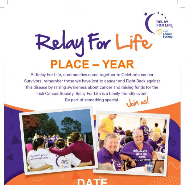 Relay For Life promotional poster