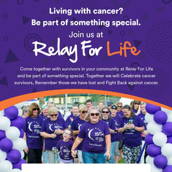 Relay For Life walk poster
