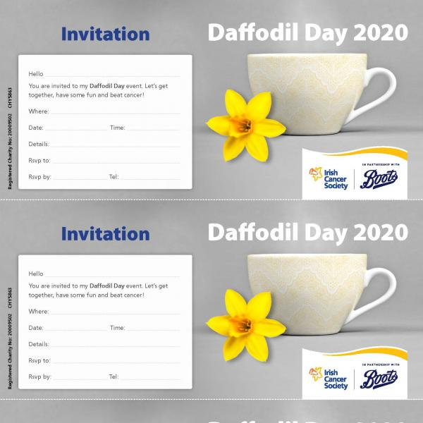 Daffodil Day 2020 Printable Invites