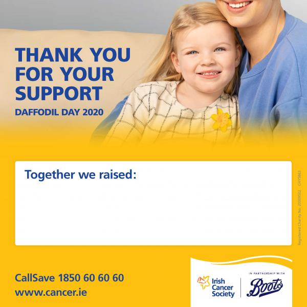 Daffodil Day 2020 Thank You Poster