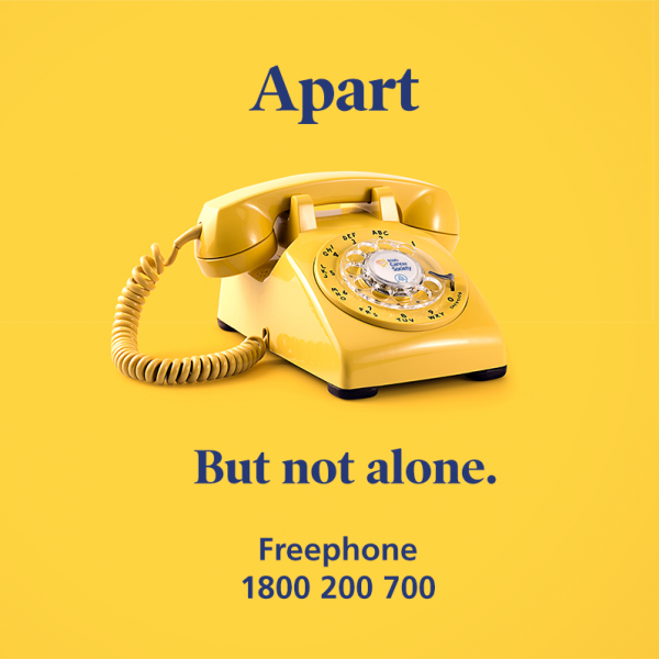 Support Banner Yellow Phone