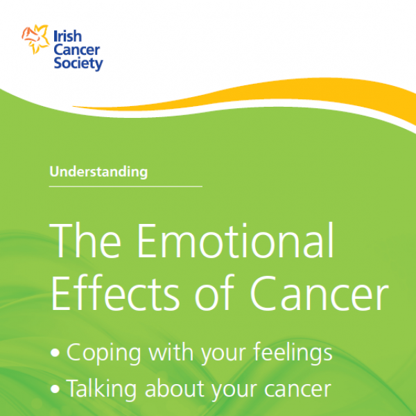 Emotional effects of cancer booklet cover