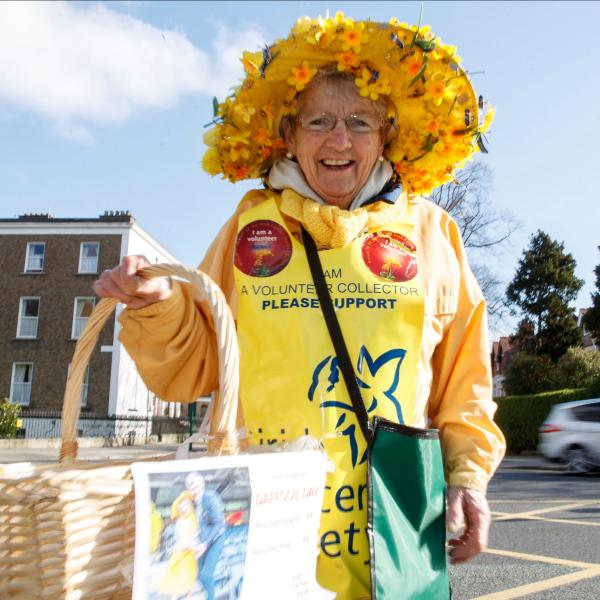 Veteran Irish Cancer Society Daffodil Day volunteer Dora