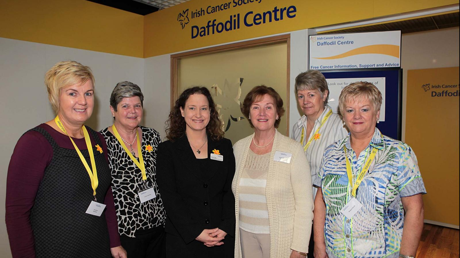 Daffodil Centre volunteers in front of a Daffodil Centre