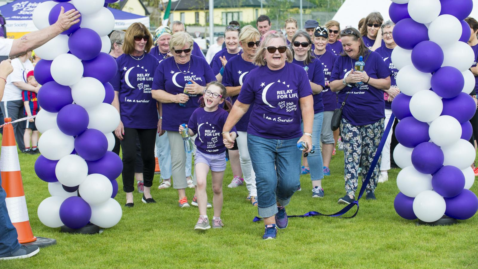 Cancer survivors walking at Relay For Life Midleton