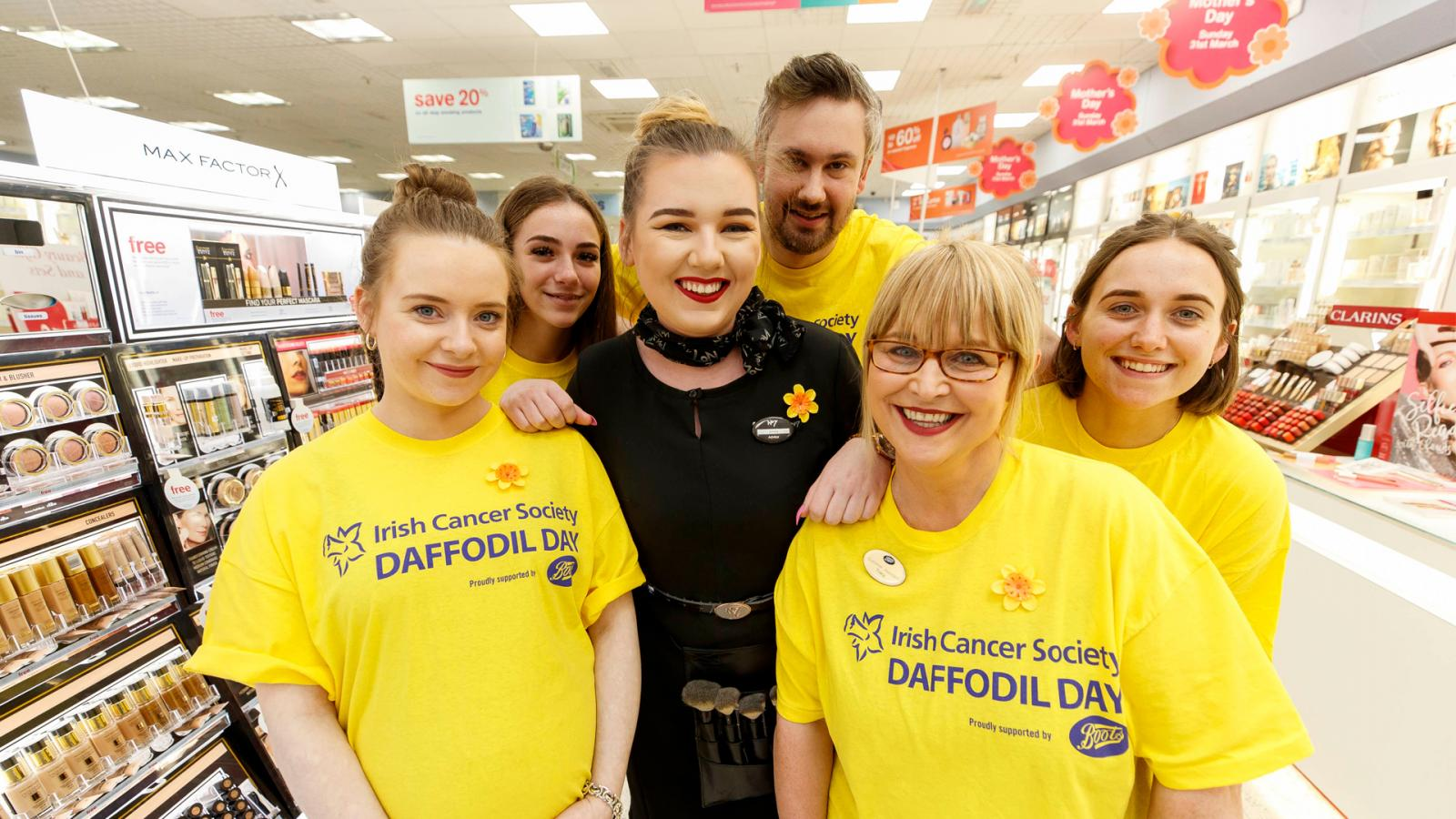 Boots employees on Daffodil Day