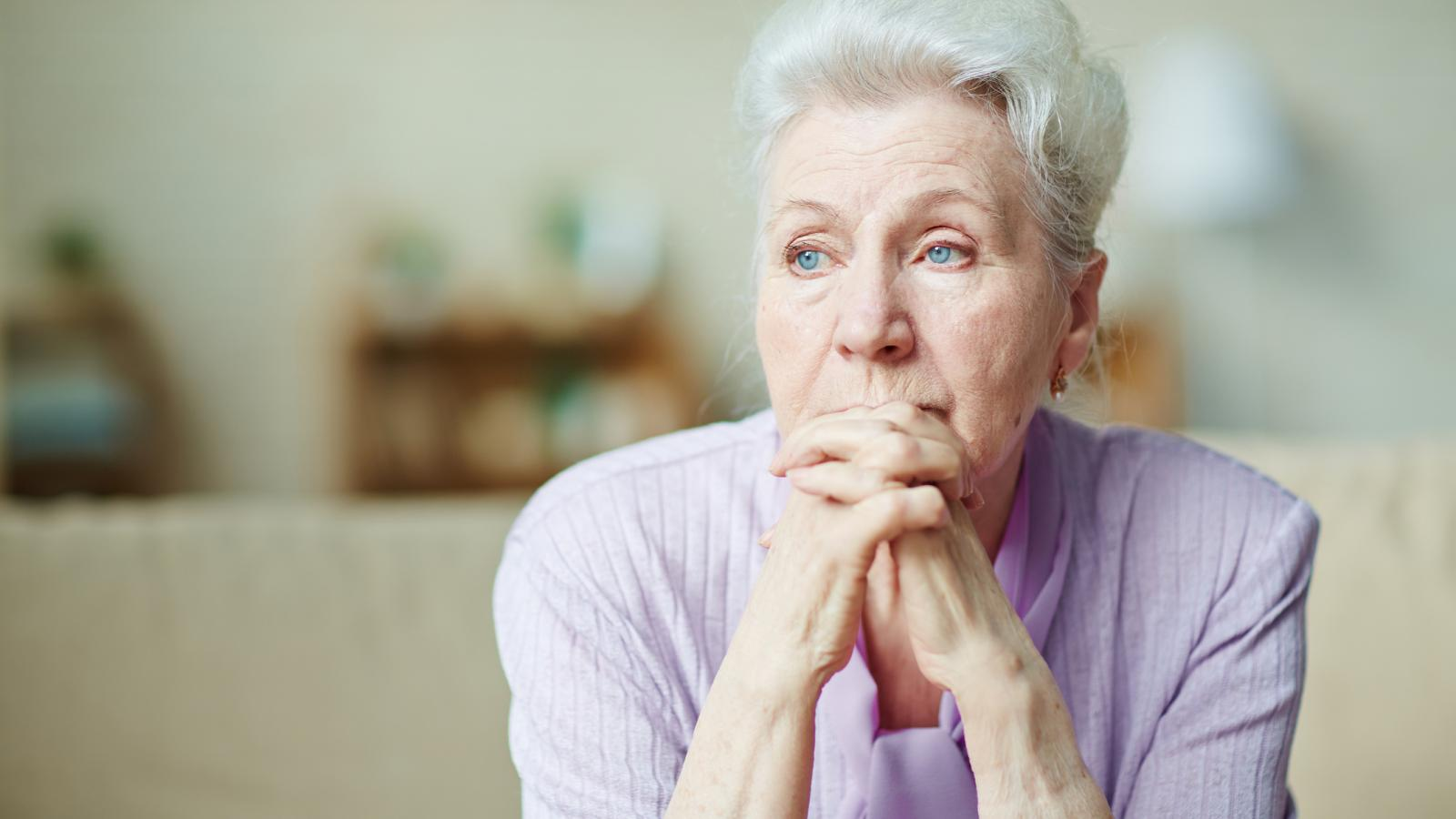 Older woman looking concerned