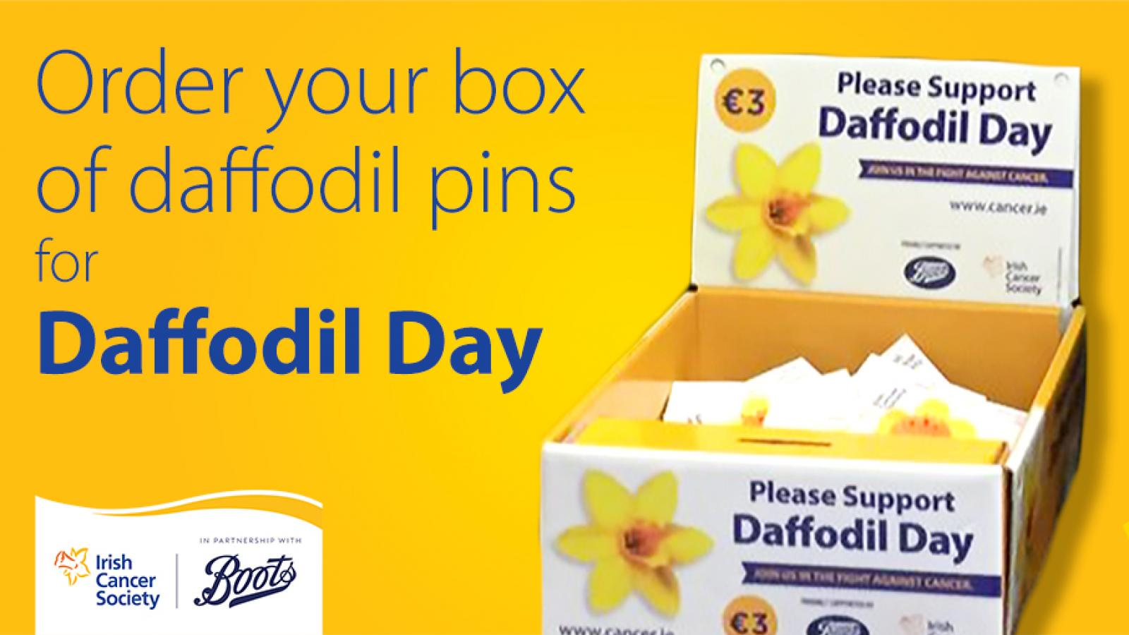 Order a box for Daffodil Day