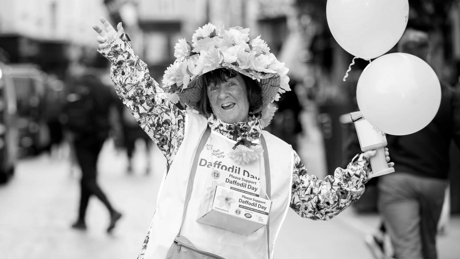 Woman on Daffodil Day