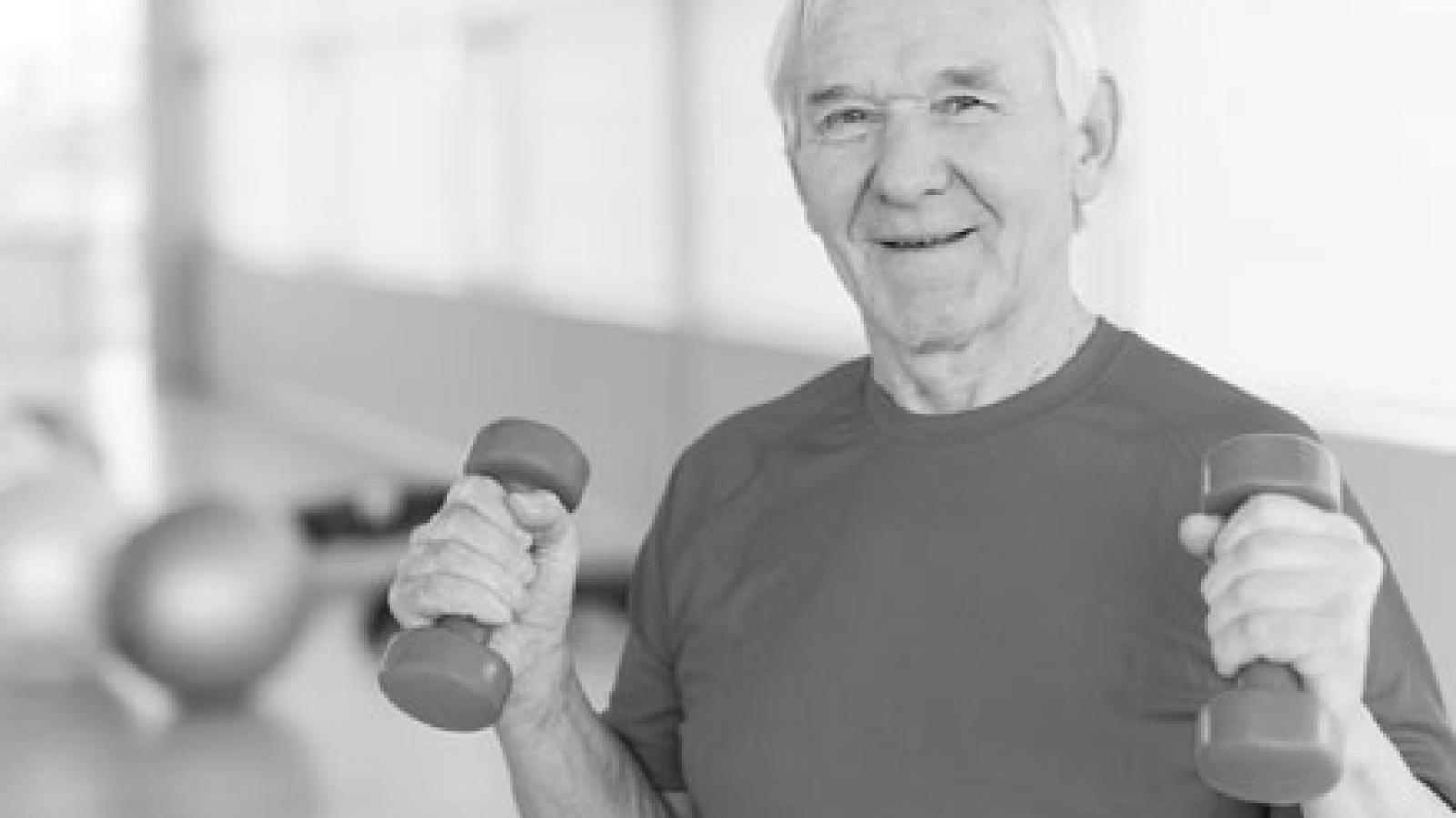 Older man exercising